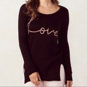 "LC Lauren Conrad ""love"" sweater"